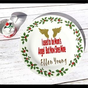 In Memory Of A Loved One Plate For Christmas.
